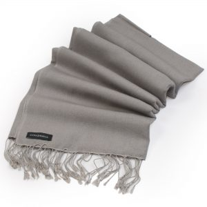 Pashmina Medium Stole - 55x200cm - 70% Cashmere/30% Silk - Steeple Grey