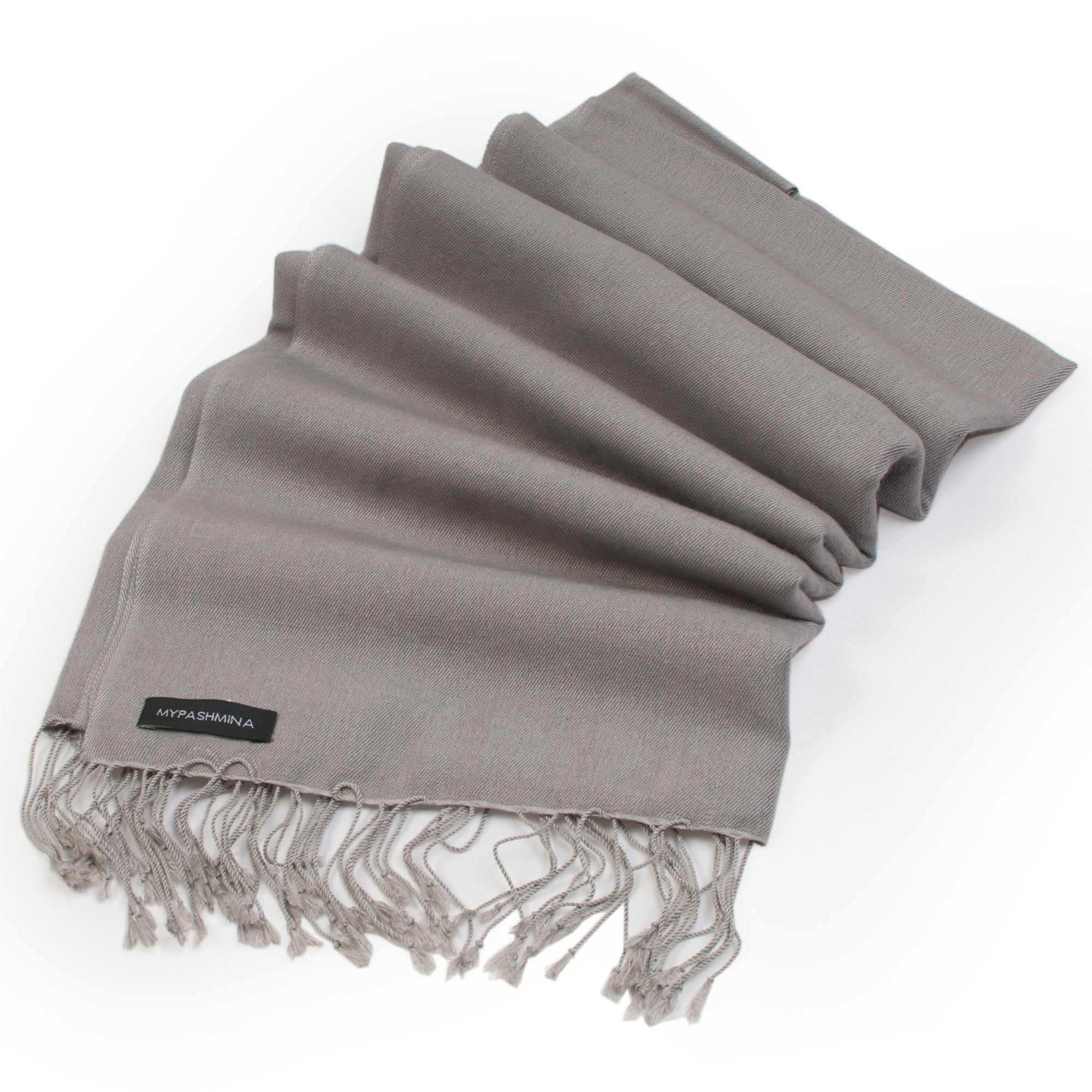 Pashmina Medium Stole - 55x200cm - 70% Cashmere/30% Silk - Steeple Grey