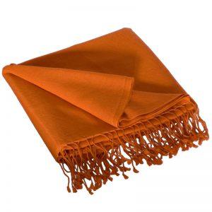 Pashmina Medium Stole - 55x200cm - 70% Cashmere/30% Silk - Harvest Pumpkin