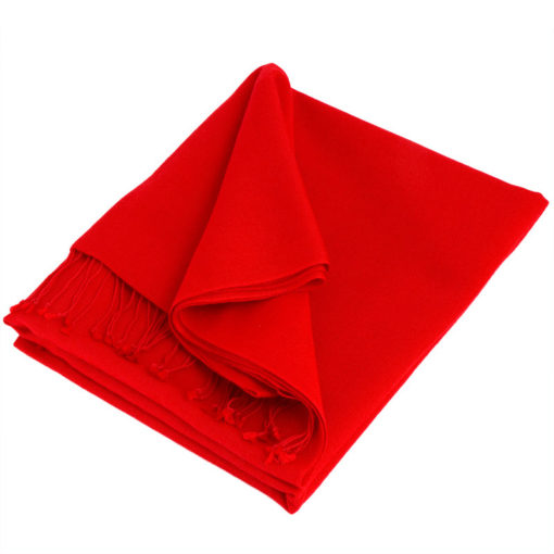 Pashmina Medium Stole - 55x200cm - 70% Cashmere/30% Silk - Fiery Red