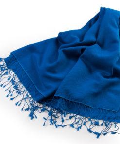 Pashmina Medium Stole - 55x200cm - 70% Cashmere/30% Silk - Brilliant Blue