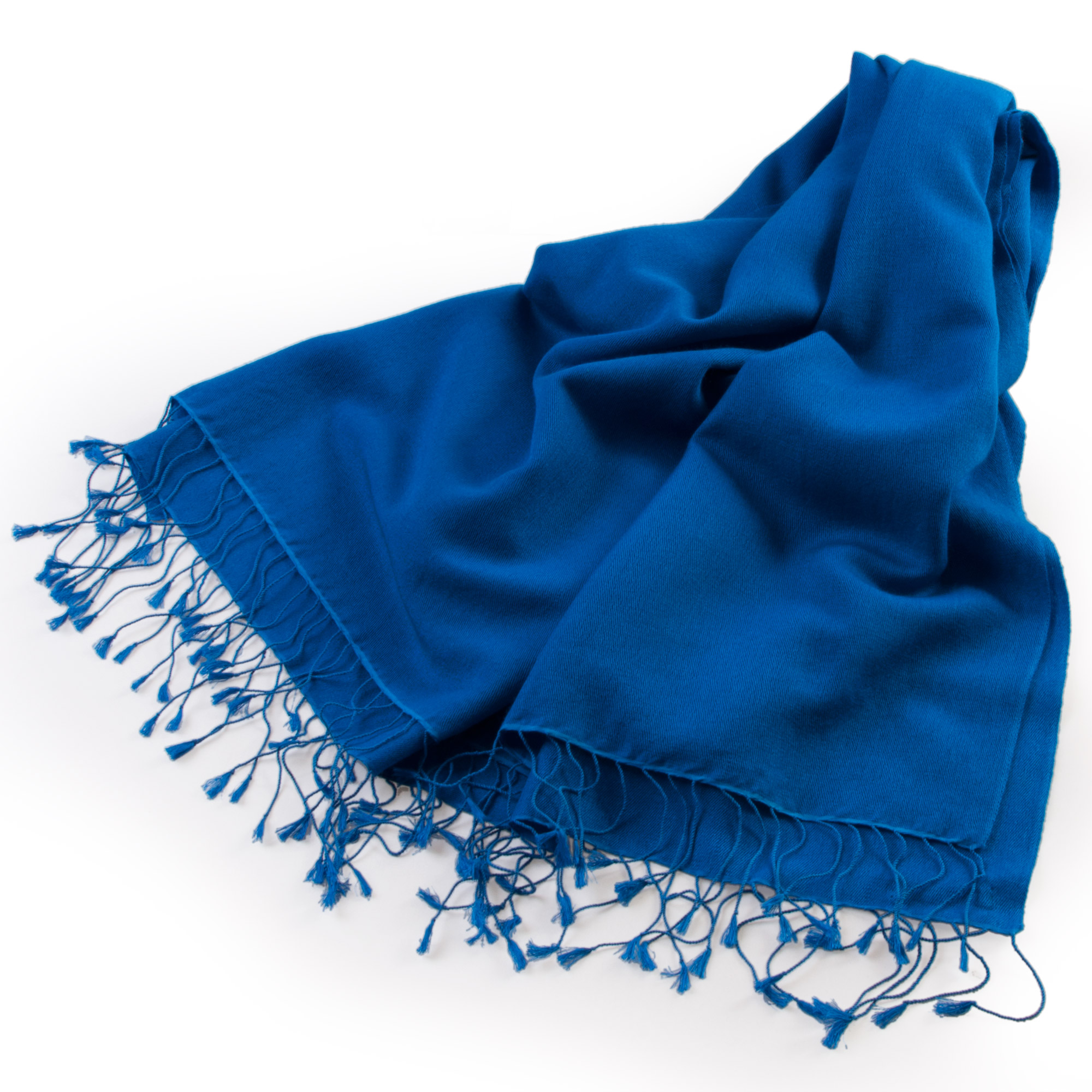 Pashmina Medium Stole - 55x200cm - 70% Cashmere/30% Silk - Brilliant Blue