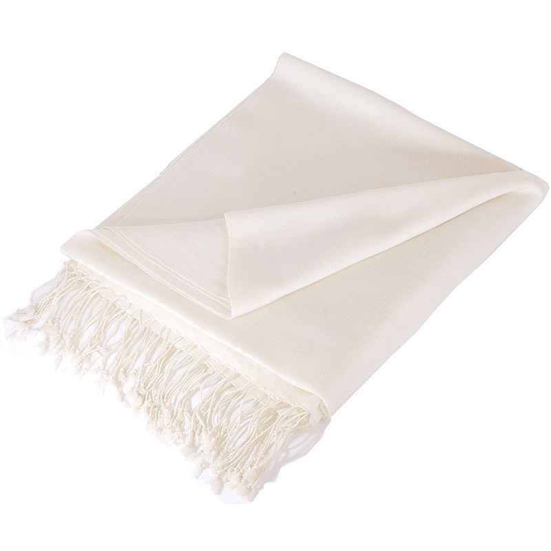 Pure Cashmere Stole - Natural White