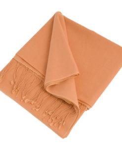 Pashmina Stole - 70x200cm - 70% Cashmere / 30% Silk - Peach Nectar