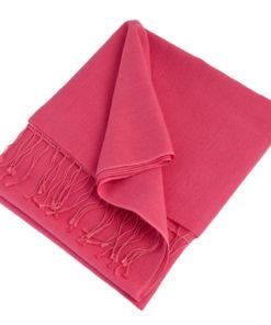 Pashmina Stole - 70x200cm - 70% Cashmere / 30% Silk - Hot Pink