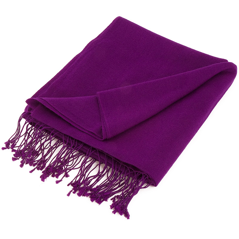 Pashmina Stole - 70x200cm - 70% Cashmere / 30% Silk - Grape Royale