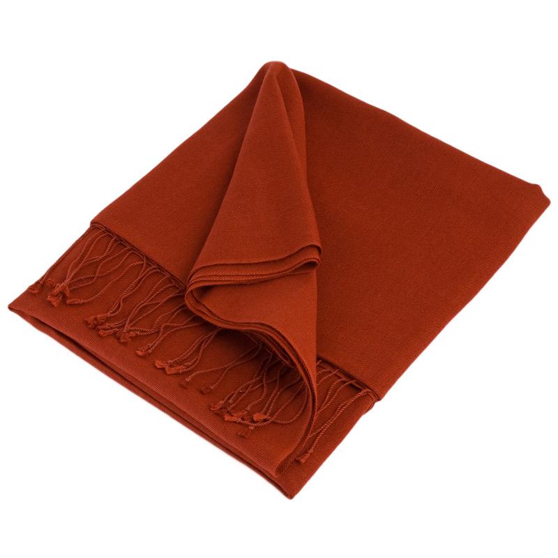 Pashmina Stole - 70x200cm - 70% Cashmere / 30% Silk - Barn Red