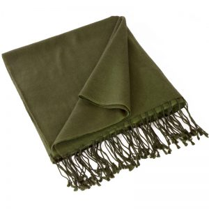 Pashmina Stole - 70x200cm - 70% Cashmere / 30% Silk - Grape Leaf