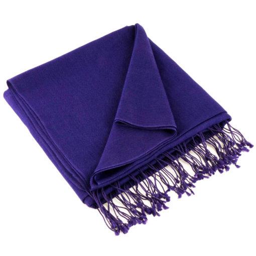Pashmina Stole - 70x200cm - 70% Cashmere / 30% Silk - Clematis Blue