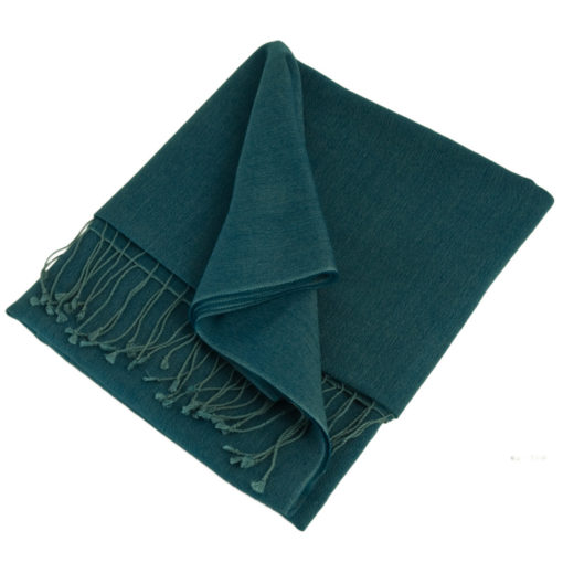 Pashmina Stole - 70x200cm - 70% Cashmere / 30% Silk - Real Teal
