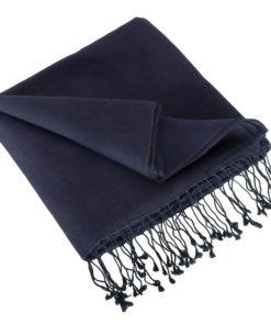 Pashmina Stole - 70x200cm - 70% Cashmere / 30% Silk - Nightshadow Blue