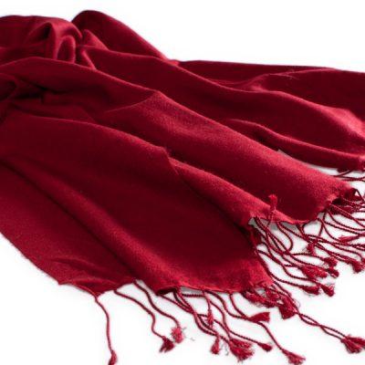 Pashmina Stole - 70x200cm - 70% Cashmere / 30% Silk - Rio Red