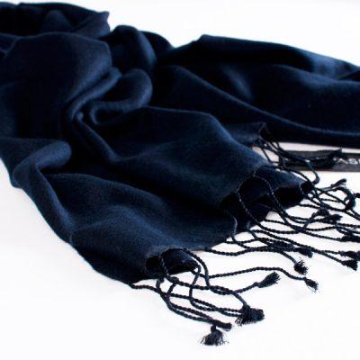Pashmina Stole - 70x200cm - 70% Cashmere / 30% Silk - Dark Navy