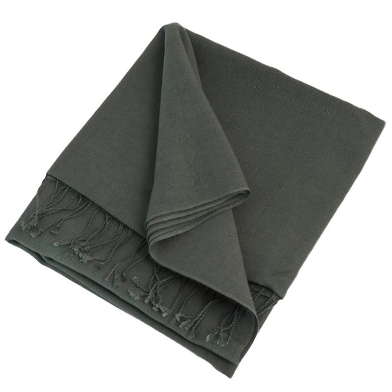 Pashmina Shawl - 90x200cm - 70% Cashmere / 30% Silk - Folkstone Grey