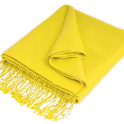 Pashmina Shawl - 90x200cm - 70% Cashmere / 30% Silk - Buttercup