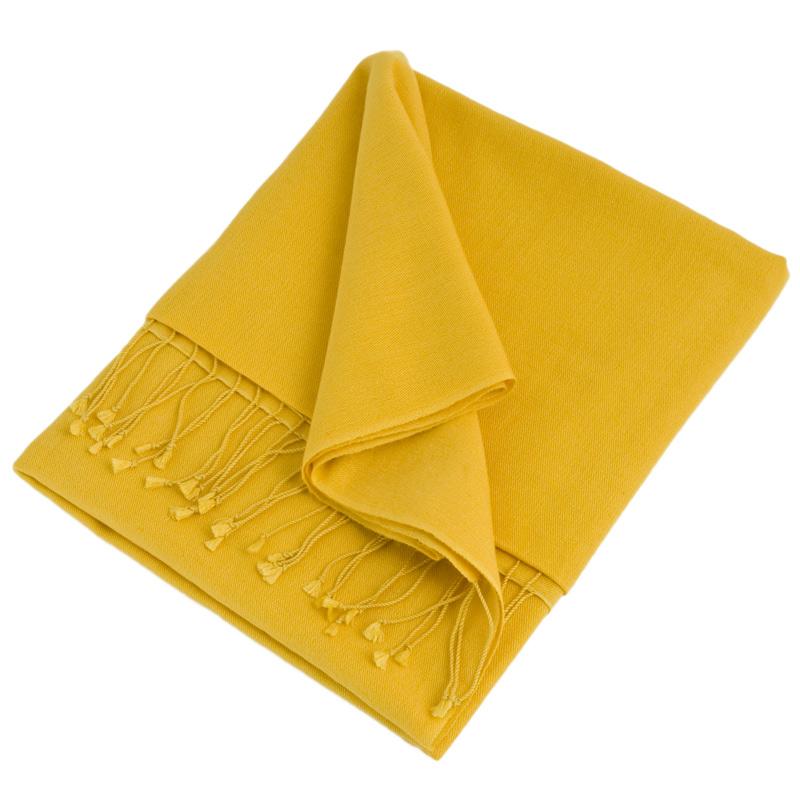 Pashmina Shawl - 90x200cm - 70% Cashmere / 30% Silk - Daffodil