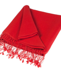 Pashmina Shawl - 90x200cm - 70% Cashmere / 30% Silk - Fiery Red