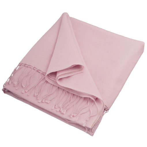 Pashmina Shawl - 90x200cm - 70% Cashmere / 30% Silk - Pink Lady