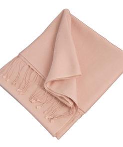 Pashmina Shawl - 90x200cm - 70% Cashmere / 30% Silk - Barely Pink