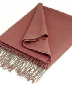 Pashmina Shawl - 90x200cm - 70% Cashmere / 30% Silk - Withered Rose
