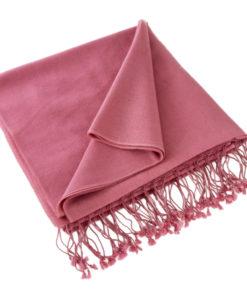 Pashmina Shawl - 90x200cm - 70% Cashmere / 30% Silk - Red Violet