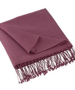 Pashmina Shawl - 90x200cm - 70% Cashmere / 30% Silk - Grape Nectar