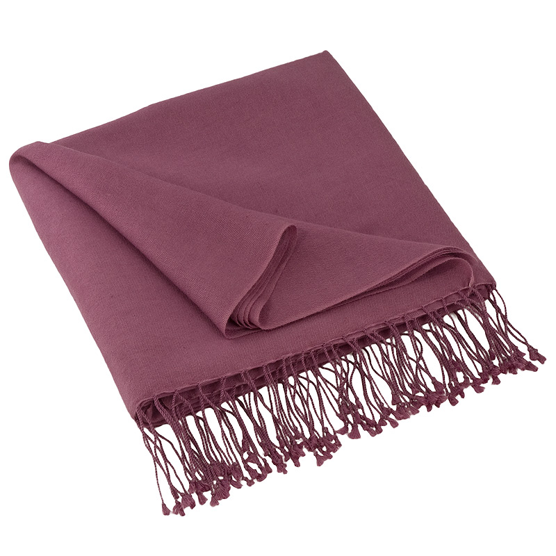 Pashmina Shawl - 90x200cm - 70% Cashmere / 30% Silk - Grape Nectar
