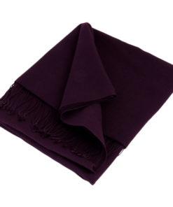Pashmina Shawl - 90x200cm - 70% Cashmere / 30% Silk - Nightshade (purple)