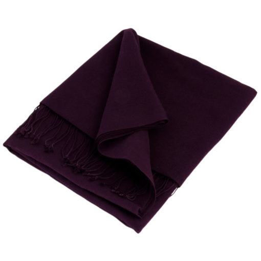 Pashmina Shawl - 90x200cm - 70% Cashmere / 30% Silk - Nightshade (purple)