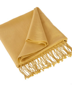 Pashmina Shawl - 90x200cm - 70% Cashmere / 30% Silk - New Wheat