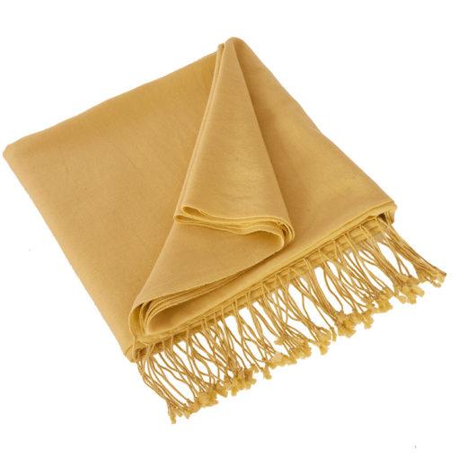 Pashmina Shawl - 90x200cm - 70% Cashmere / 30% Silk - New Wheat