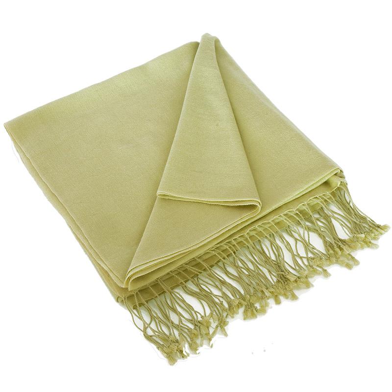 Pashmina Shawl - 90x200cm - 70% Cashmere / 30% Silk - Green Haze
