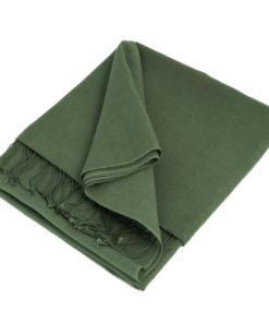 Pashmina Shawl - 90x200cm - 70% Cashmere / 30% Silk - Duck Green