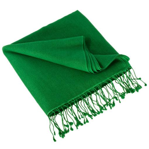 Pashmina Shawl - 90x200cm - 70% Cashmere / 30% Silk - Verdant Green