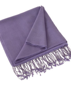 Pashmina Shawl - 90x200cm - 70% Cashmere / 30% Silk - Bleached Denim