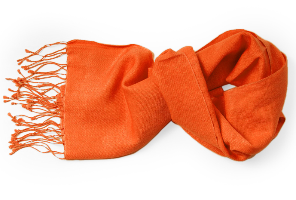Pashmina Scarf - 30x150cm - 100% Cashmere - Spicy Orange
