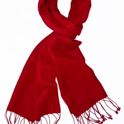 Pashmina Scarf - 30x150cm - 100% Cashmere - Fiery Red
