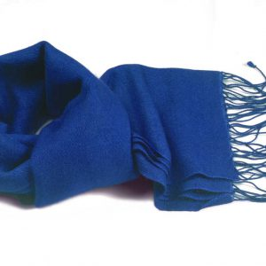 Pashmina Scarf - 30x150cm - 100% Cashmere - Imperial Blue