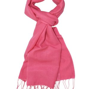 Pashmina Scarf - 30x150cm - 100% Cashmere - Hot Pink