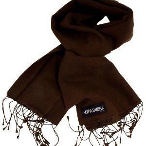 Pashmina Scarf - 30x150cm - 100% Cashmere - Dark Chocolate