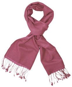 Pashmina Scarf - 30x150cm - 100% Cashmere - Red Violet