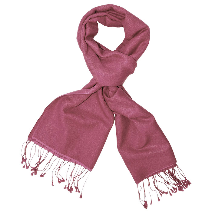 Pashmina Scarf - 30x150cm - 100% Cashmere - Red Violet