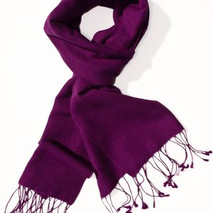 Pashmina Scarf - 30x150cm - 100% Cashmere - Grape Royale
