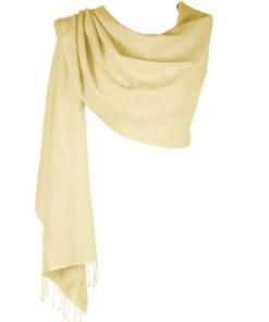Pashmina Large Scarf - 45x200cm - 100% Cashmere - Winter White