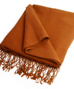 Pashmina Large Scarf - 45x200cm - 100% Cashmere - Ginger Bread
