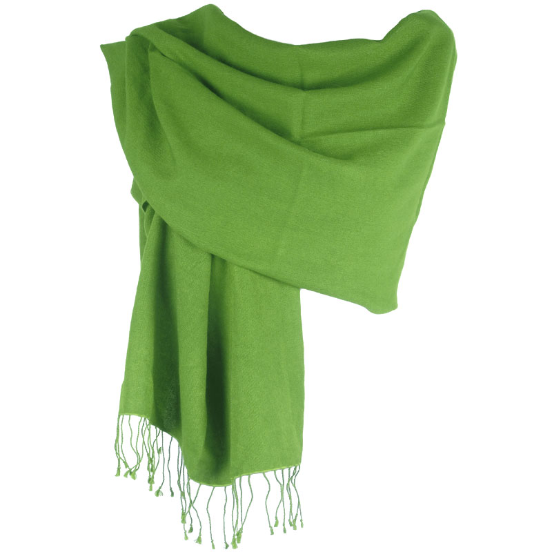 Pashmina Large Scarf - 45x200cm - 100% Cashmere - Mosstone