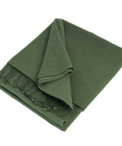 Pashmina Large Scarf - 45x200cm - 100% Cashmere - Duck Green