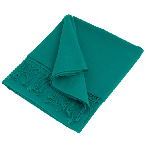 Pashmina Large Scarf - 45x200cm - 100% Cashmere - Biscay Bay