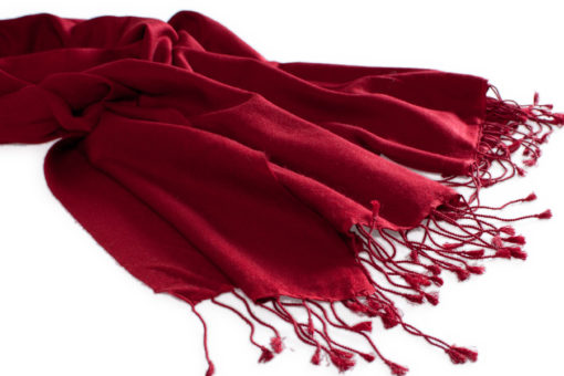 Pashmina Large Scarf - 45x200cm - 100% Cashmere - Rio Red