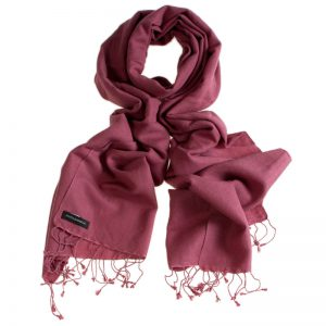 Pashmina Large Scarf - 45x200cm - 100% Cashmere - Dry Rose
